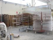 Capannone e macchinari verniciatura